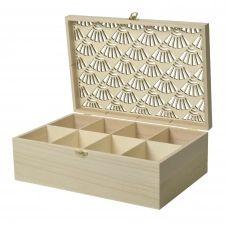 Boîte à bijoux en bois à customiser 30x20x10cm