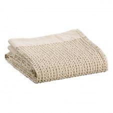 Drap de bain stonewash  en coton lin 100 x 180