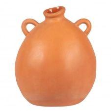 Vase oreille en terre cuite orange