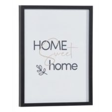 Image 30×40 cm HOME SWEET HOME Noir / Blanc