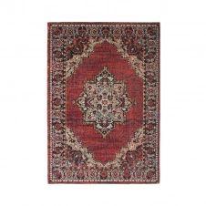 Tapis intérieur-extérieur médaillon rouge 160×230
