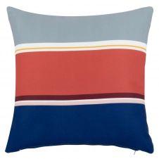 Housse de coussin motifs à rayures multicolores 40×40