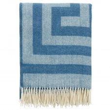Plaid en laine Memphis 130×200 cm Sky blue