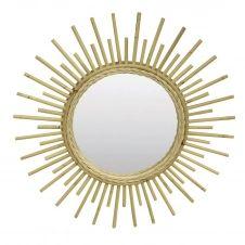 Miroir en rotin vernis naturel D55cm