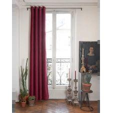 Rideau en velours de coton doublé 135×280 cm terre rouge