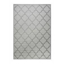 Tapis outdoor gris motif oriental bleu pour entrée, extérieur 290×200