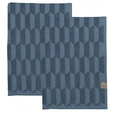 Essui-main Geo Lot de 2 Slate blue