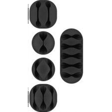 Range câble Goobay Cable Guide (Kit) Noir x5