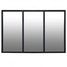 Miroir atelier verrière en métal noir 60×90