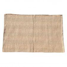 Tapis uni en coton et jute coton naturel 80×50