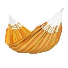 Hamac classique double en coton jaune et orange