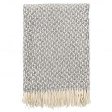 Plaid en laine Anna 130×200 cm Gris