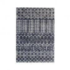Tapis pour intérieur-extérieur motif géo bleu 160×230