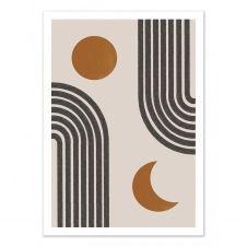 DAY AND NIGHT – MIUUS STUDIO –  Affiche d'art 50 x 70 cm