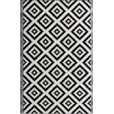 TAVLA – Tapis géométrique noir 200x280cm