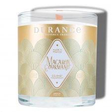 Bougie naturelle parfumée mèche bois Macaron gourmand 280g