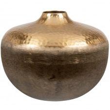 Vase boule en métal doré H20