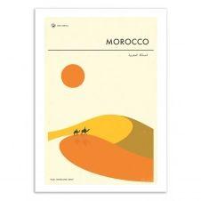 MOROCCO TRAVEL POSTER –  Affiche d'art 50 x 70 cm