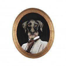 Cadre déco chien en bois 53 x 64 cm OSCAR