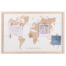 Pêle-mêle carte du monde 40×40
