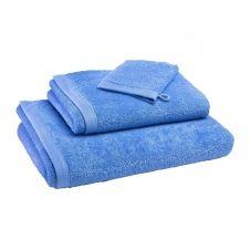 Drap de bain bleu 100×150 en coton bio