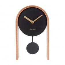 Horloge à poser en bois noir H25cm
