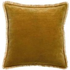 Coussin uni en 100% coton marron 45×45