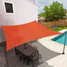 Voile d'ombrage rectangulaire 3x4M terracotta