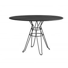 CAPRI – Table rond en acier gris D110