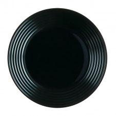 Grande assiette plate noire D27cm