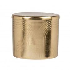 Boîte en métal doré motifs arcs de cercle