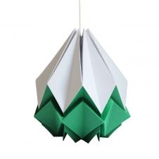 Suspension origami bicolore en papier taille XL