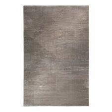 Tapis motif géométrique à relief gris taupe 200×133