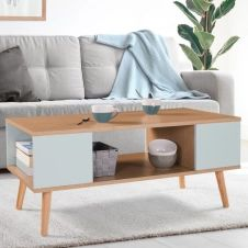 Table basse ALIZE bois et vert