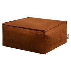 Pouf d'intérieur en velours cuivre