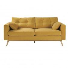 Canapé 3/4 places jaune