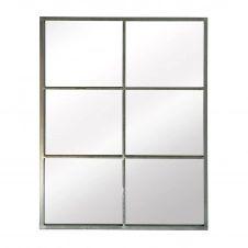 Miroir verrière rectangulaire gris 85×110