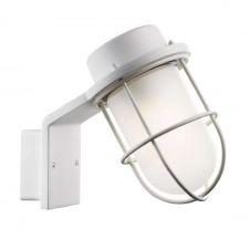 Applique de salle de bain métal/verre blanc H22,5cm