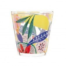 Gobelet en verre imprimé multicolore