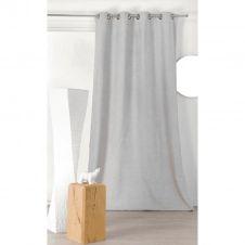 Rideau obscurcissant aspect laine chinée polyester ecru 250×140
