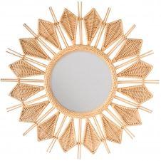 Miroir rond en rotin naturel ∅ 100 cm