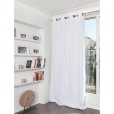 Rideau phonique thermique occultant blanc 140×260