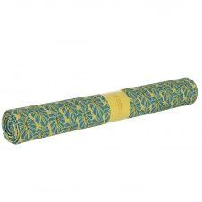 Toile de transat prête à poser imprimé fleuri jaune