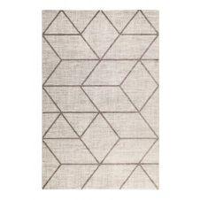 Tapis graphique motif brun gris beige chiné200×133