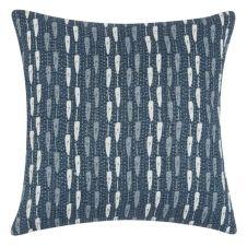 Housse de coussin en coton bleu et écru à motifs 40×40