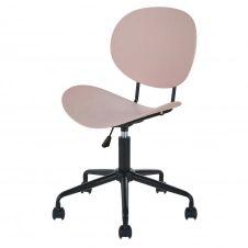 Chaise de bureau noire et rose à roulettes