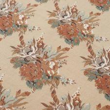Nappe en coton Printed Multi Flower 150×250 cm Beige clair-multi