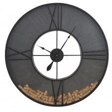 Horloge en verre et métal noir avec bouchon de liège D91