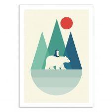 BEAR YOU –   Affiche d'art 50 x 70 cm