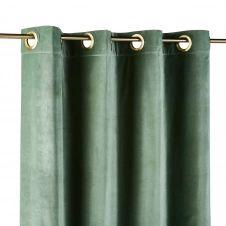 Rideau à illets en velours vert tilleul 140×300
